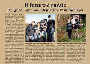 L'articolo de La Nazione sui giovani agricoltori